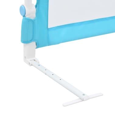 vidaXL Sängskena för barn blå 120x42 cm polyester[6/6]