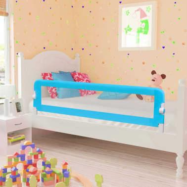 vidaXL Sängskena för barn blå 120x42 cm polyester[1/6]