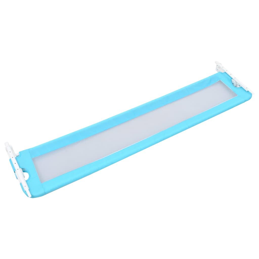 Dětská zábrana k postýlce modrá 180 x 42 cm polyester