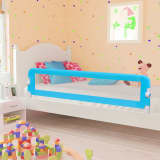 vidaXL Toddler Safety Bed Rail Blue 180x42 cm Polyester