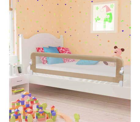 vidaXL Barra segur. cama infantil 180x42cm poliéster cinza-acastanhado[1/6]