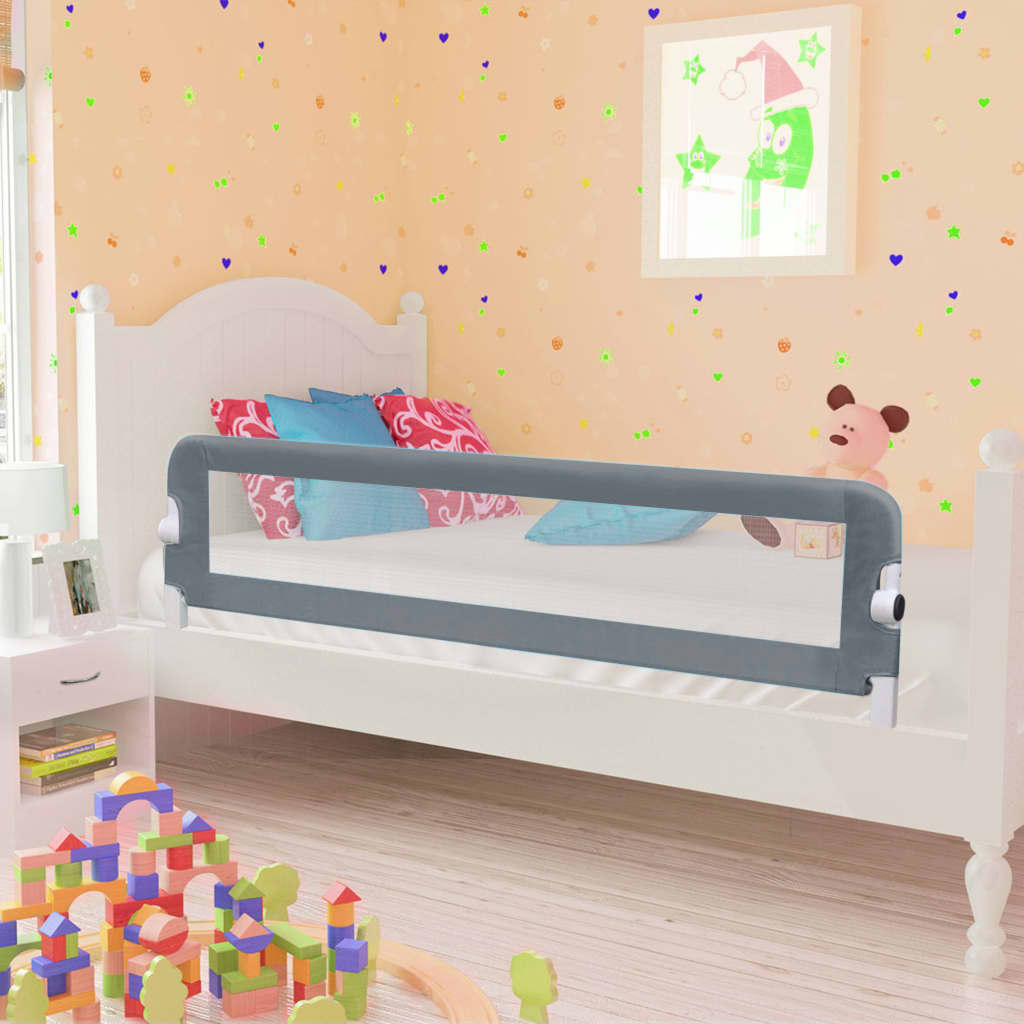 Voodipiire väikelapse voodile, hall, 120 x 42 cm..