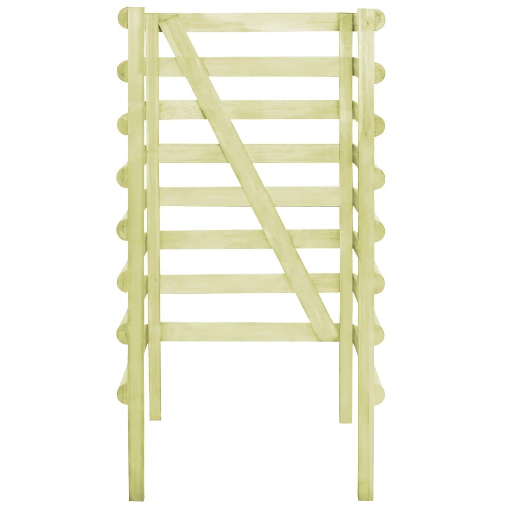 vidaXL Containerberging enkel 70x80x150 cm geimpregneerd grenenhout