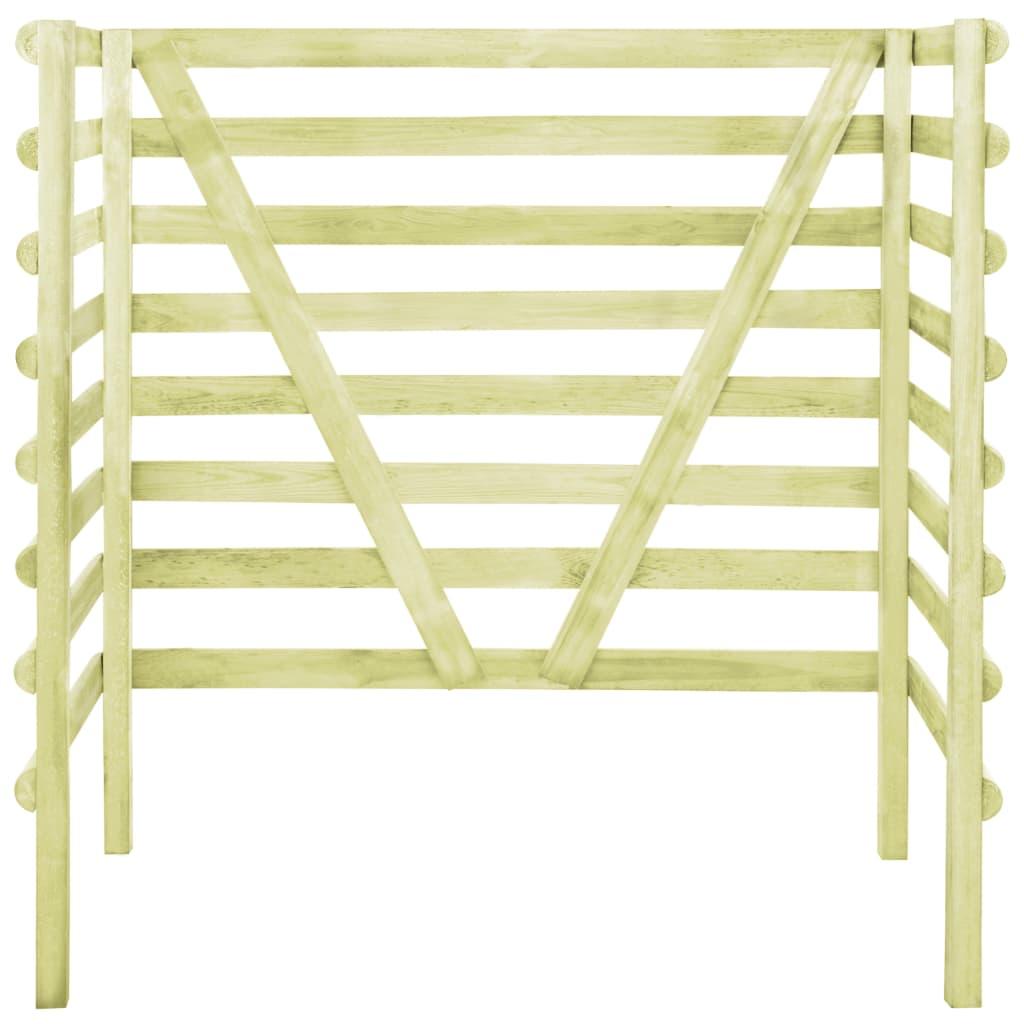 vidaXL Containerberging dubbel 140x80x150 cm geimpregneerd grenenhout