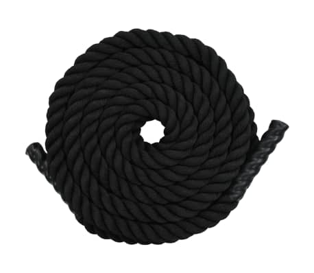 vidaXL Battle Rope 9 m Polyester Black
