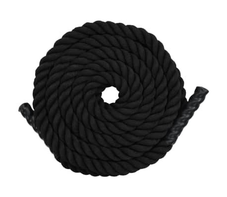 vidaXL Battle Rope 12 m Polyester Black