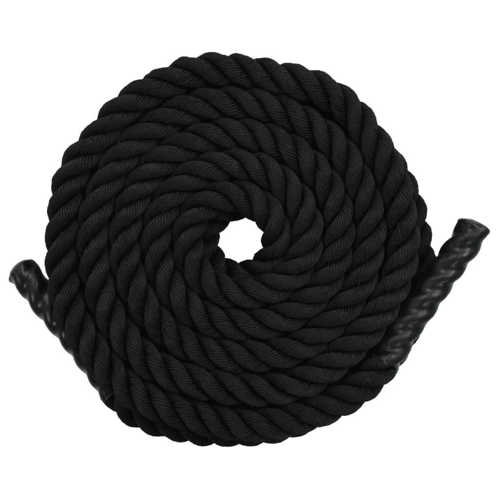 Posilovací lano 15 m polyester černé