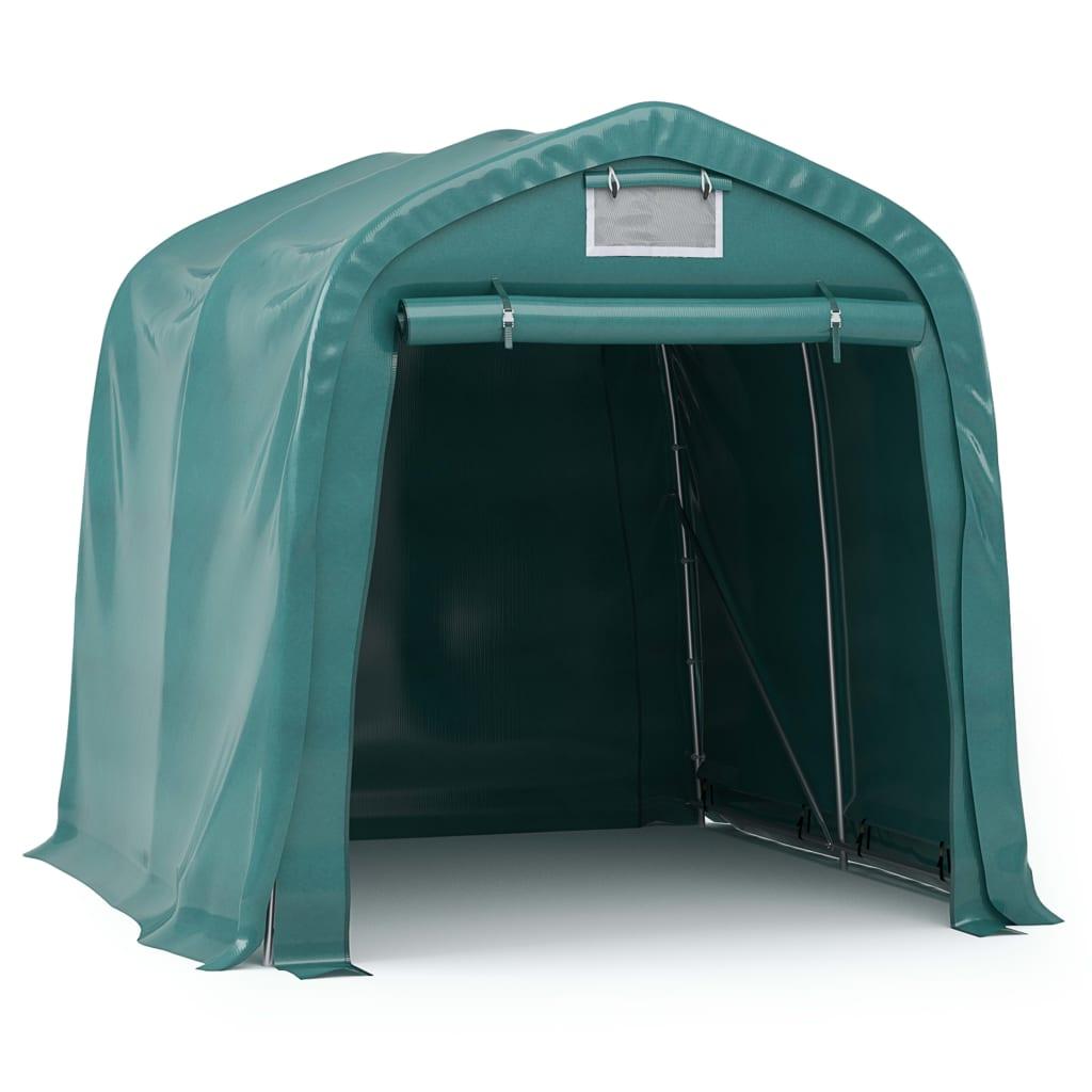 vidaXL Garagetent 2,4x2,4 m PVC groen