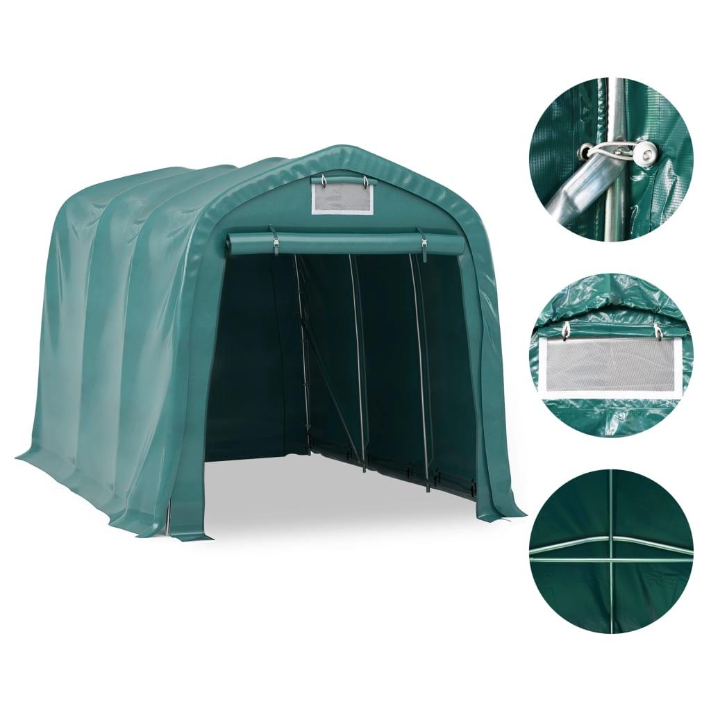 Afbeelding van vidaXL Garagetent 2,4x3,6 m PVC groen