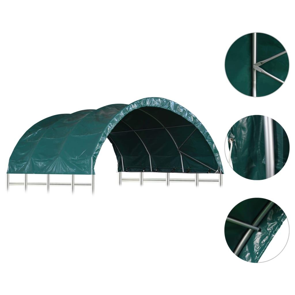 vidaXL Τέντα Κτηνοτροφίας Πράσινη 3,7 x 3,7 μ. από PVC