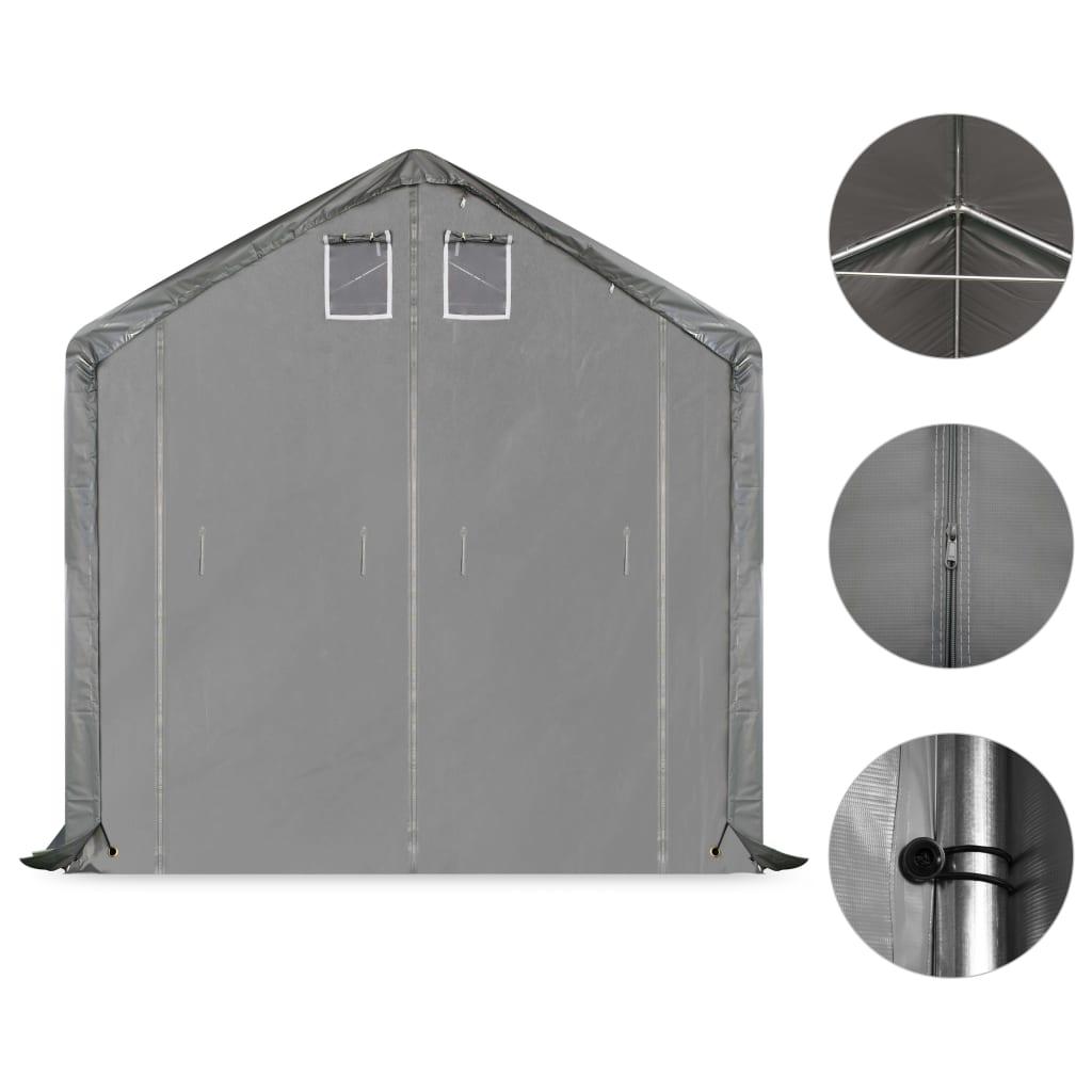 vidaXL Opslagtent 5x10 m PVC grijs