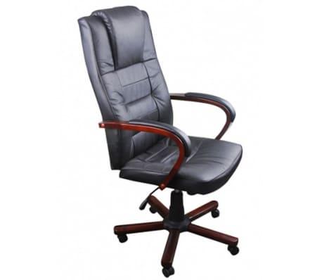 Prabangi biuro kėdė, juoda[1/5]