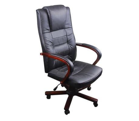 Prabangi biuro kėdė, juoda[2/5]