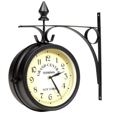 vidaXL Two-sided Wall Clock 20 cm[1/6]