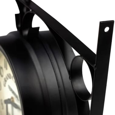 vidaXL Two-sided Wall Clock 20 cm[4/6]
