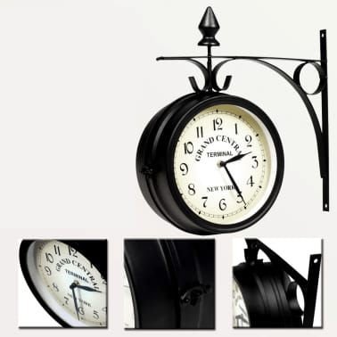 vidaXL Two-sided Wall Clock 20 cm[5/6]