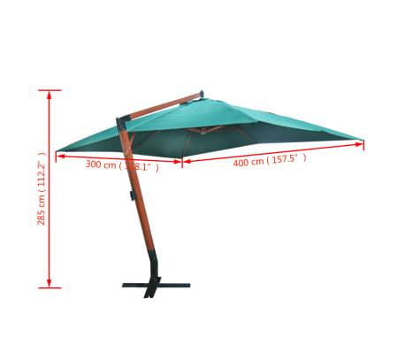 "Floating Parasol Melia 118.1""x157.5"" Green[5/5]"