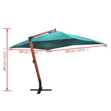 parasol d port vert 300 x 400 cm. Black Bedroom Furniture Sets. Home Design Ideas