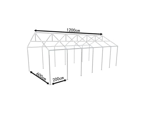 armature metallique tonnelle de jardin 12 x 6 m. Black Bedroom Furniture Sets. Home Design Ideas