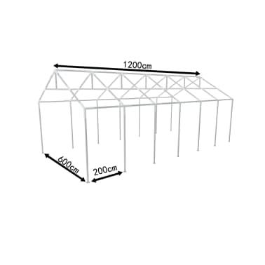 Pavillon Stahlgestell Partyzeltrahmen Zeltrahmen Gestell 12 x 6 m[2/3]