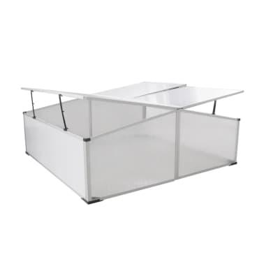 Mini invernadero de policarbonato 108 x 41 x 110 cm / 4 tapas[2/5]