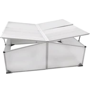 Mini invernadero de policarbonato 108 x 41 x 110 cm / 4 tapas[5/5]