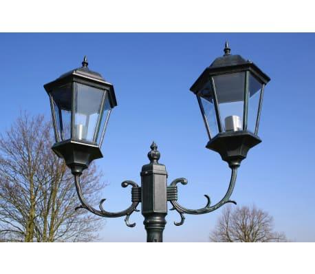 vidaXL Stoječa vrtna svetilka 230 cm temno zelena/črna aluminijasta[6/9]