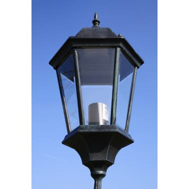 vidaXL Stoječa vrtna svetilka 230 cm temno zelena/črna aluminijasta[2/9]