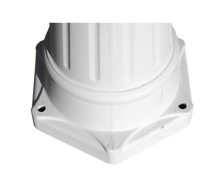 Kingston Puutarhan Valotolppa 3-lyhtyä 215 cm Valkoinen[4/9]