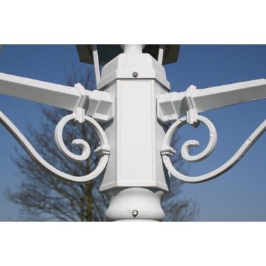 Kingston Puutarhan Valotolppa 3-lyhtyä 215 cm Valkoinen[3/9]