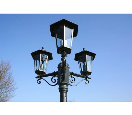 Lampa ogrodowa, stojąca Wilanów 215 cm ciemny zielony i czarny[2/9]