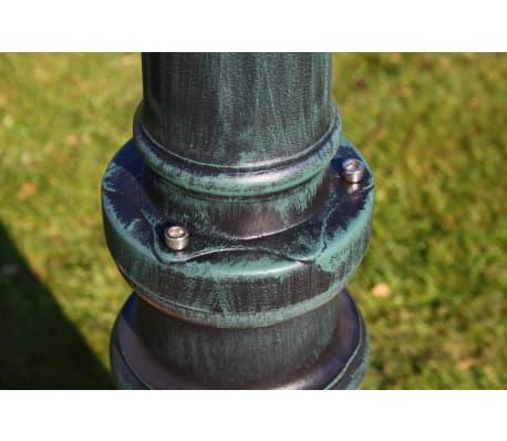 vidaXL lygtepæl med 3 arme 215 cm aluminium mørkegrøn/sort[5/9]