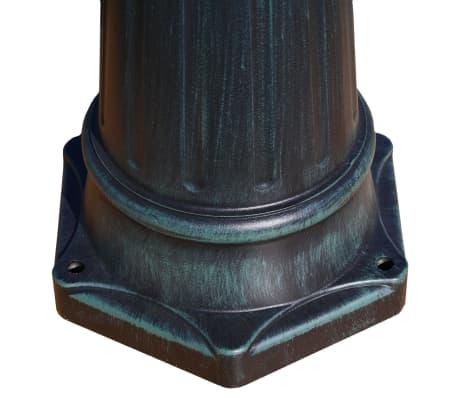 vidaXL Lampione da Giardino 2 Bracci 215 cm Verde Scuro/Nero Alluminio[5/9]