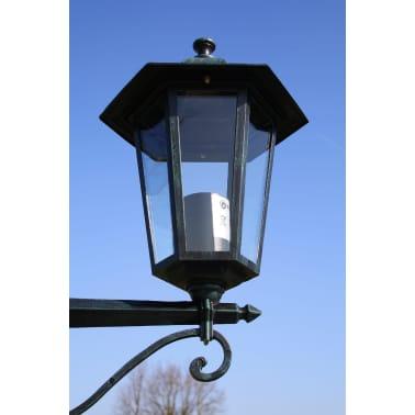 vidaXL Lampione da Giardino 2 Bracci 215 cm Verde Scuro/Nero Alluminio[2/9]