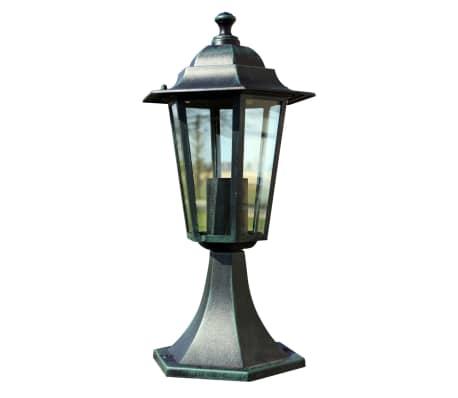 vidaXL Lampione da Giardino Verde Scuro/Nero in Alluminio[2/6]