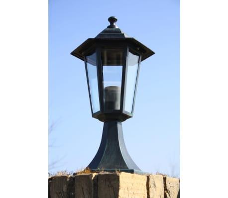 vidaXL Lampione da Giardino Verde Scuro/Nero in Alluminio[3/6]