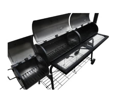 vidaXL Smoker BBQ Nevada XL Black[3/3]