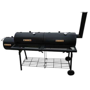 vidaXL Smoker BBQ Nevada XL Black[2/3]