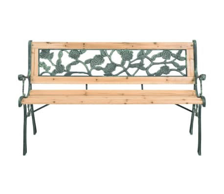 vidaXL Garden Bench 122 cm Wood[2/7]
