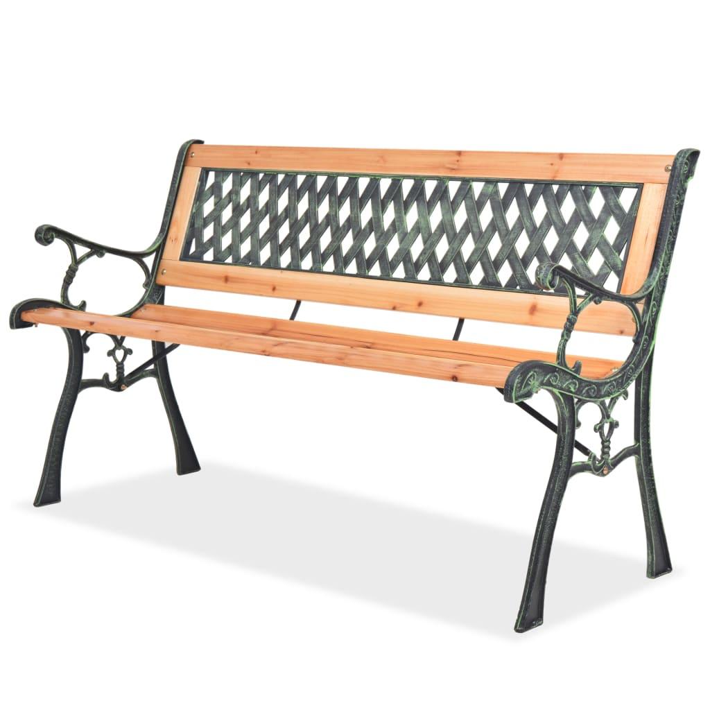 vidaXL Zahradní lavice 122 cm dřevěná