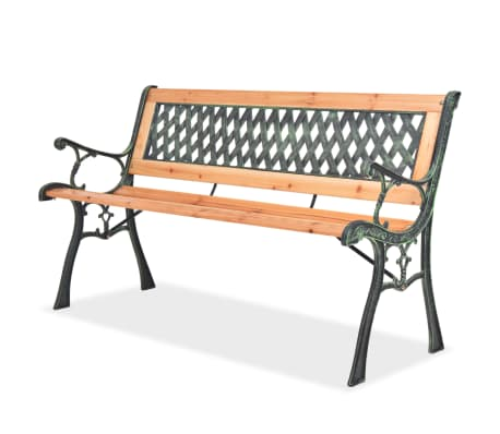 vidaXL Garden Bench with Diamond-patterned Backrest[1/7]