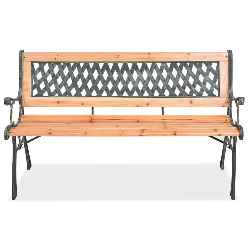 Zahradní lavice 122 cm dřevěná