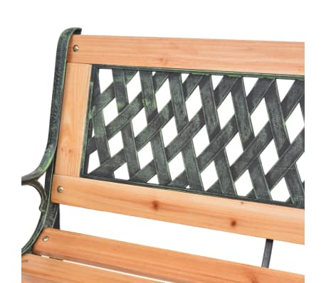 vidaXL Garden Bench with Diamond-patterned Backrest[5/7]