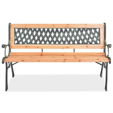 vidaXL Garden Bench with Diamond-patterned Backrest[2/7]