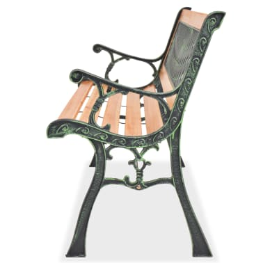 vidaXL Garden Bench with Diamond-patterned Backrest[3/7]
