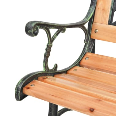 vidaXL Garden Bench with Diamond-patterned Backrest[4/7]