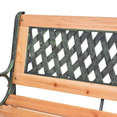 vidaXL Garden Bench 122 cm Wood[5/7]