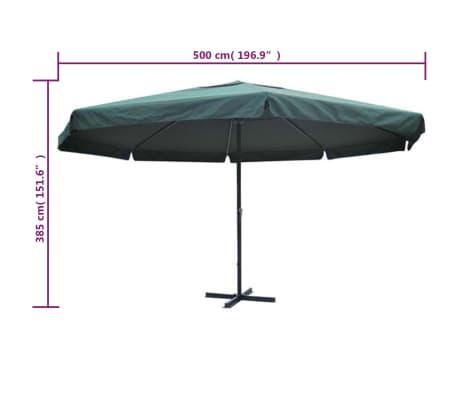 Parasol Samos 500 cm. Aluminium Green[5/5]