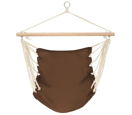 "Hammock Chair 39.4""x31.5"" Cotton Brown[1/2]"