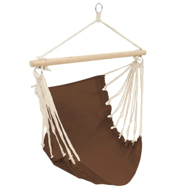 "Hammock Chair 39.4""x31.5"" Cotton Brown[2/2]"